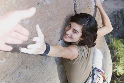 Rock climber green